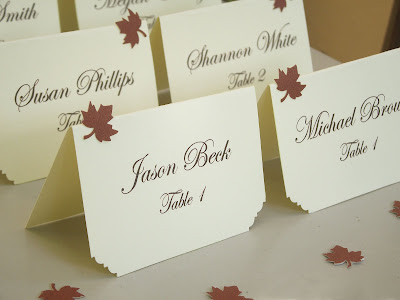 And since we are talking about the wedding place cards I would you like to