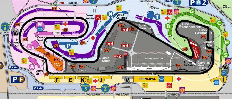 CARRERA GP ESPAÑA 2009 CircuitMontmelo_NewMap