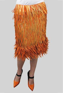 Prada | Designer | Fashion | Orange Paillette | Skirt