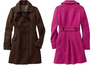 Old Navy | Double-Breasted, Wool-Blend Coat