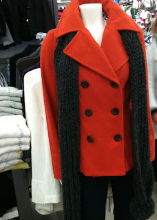 Old Navy | Women's | Fashion | Orange Pea Coat