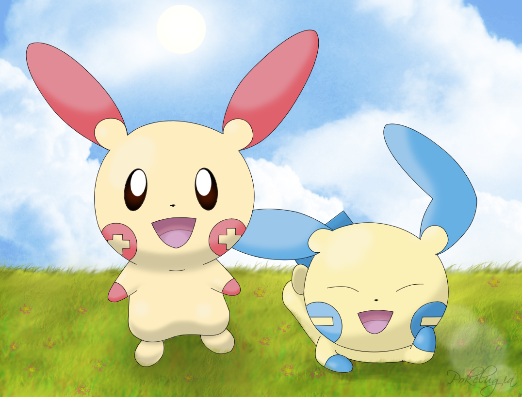 Plusle and Minun by pokelugia pngPlusle And Minun