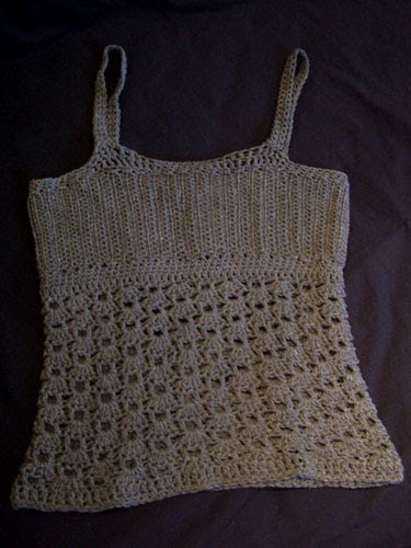 Tank Top Knitting Pattern Free : 47s Knitting and Crochet Patterns: Custom Tank Top Version #1