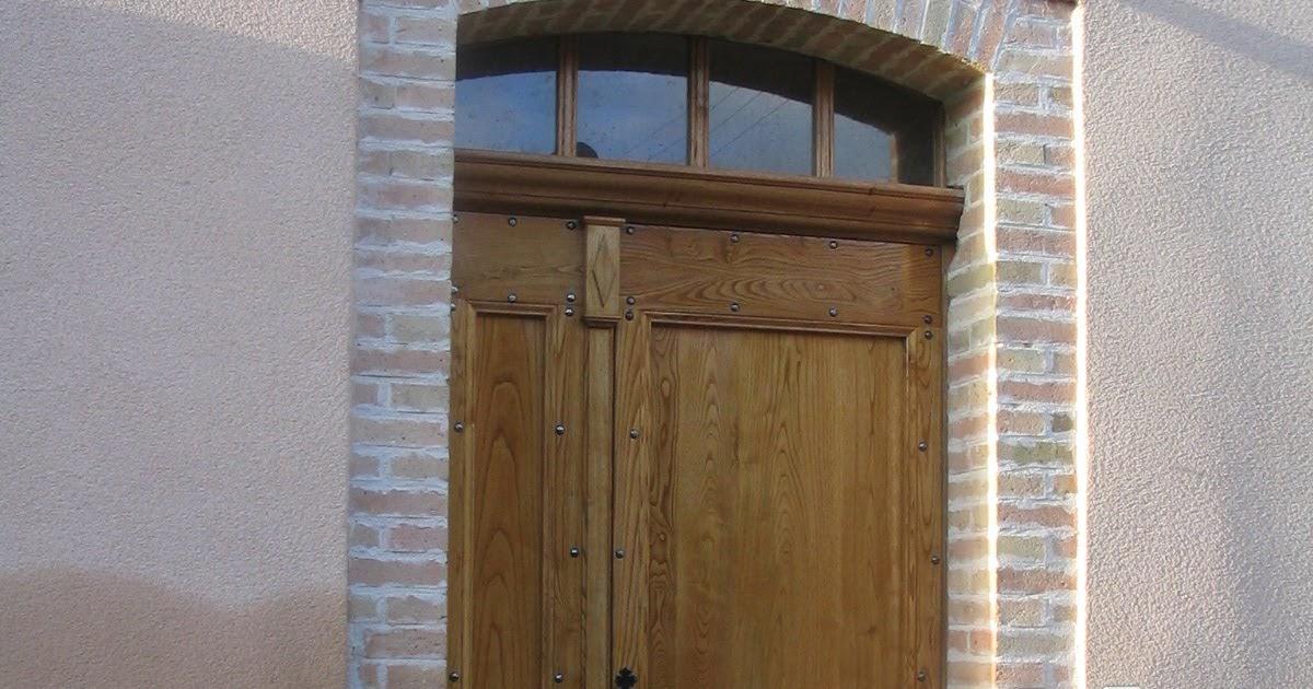 Evolution bois porte d 39 entr e avec imposte cintr - Imposte pour porte d entree ...