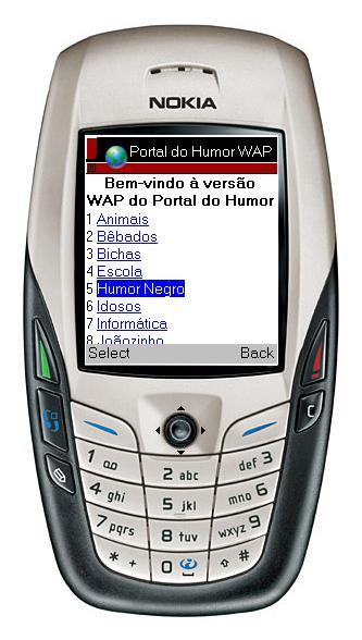 Wap a internet em seu Celular