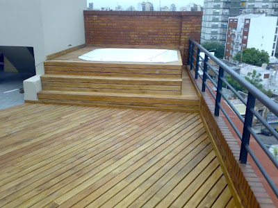 A g carpinteros for Deck para exteriores