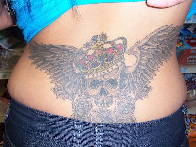 Skull Tattoo and Tribal