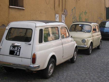 Dans les rues romaines