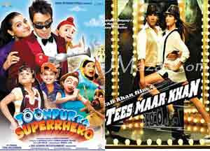Tees Maar Khan, Toompur ka Suparhero to clash on 24 December