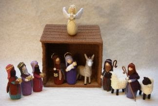 Knitting Patterns For Nativity Figures : michelle made this: Knitted Nativity