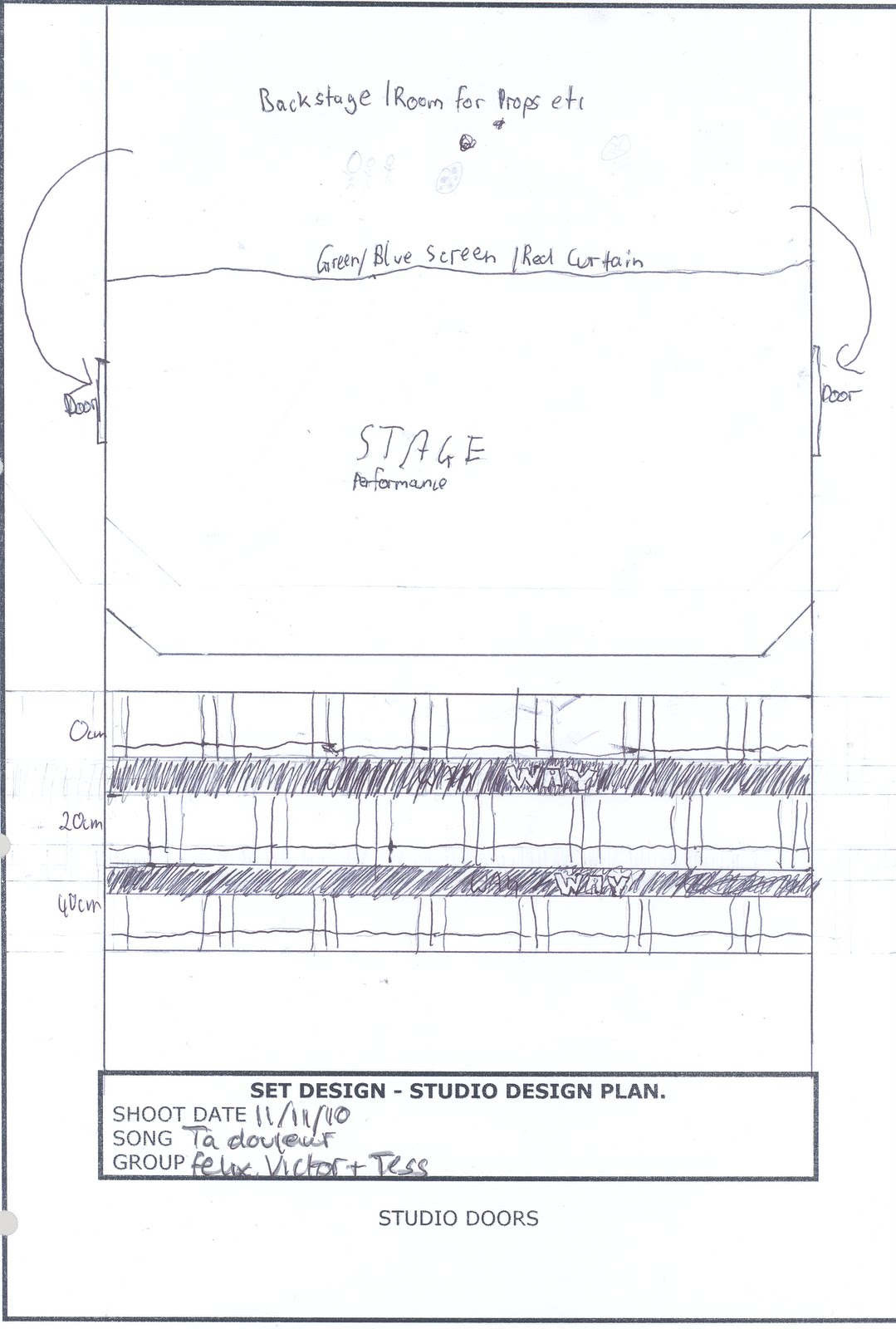 TESSA LOMAS FOUNDATION PORTFOLIO 09-11: STUDIO AND LIGHTING PLAN