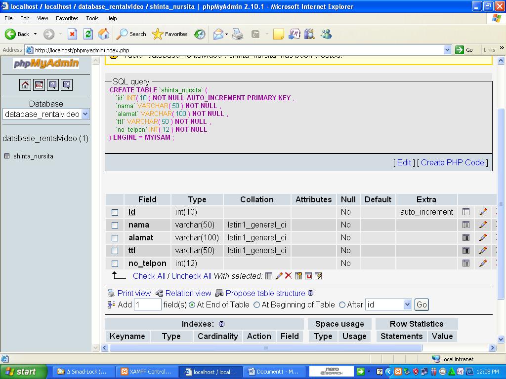 how to delete database in phpmyadmin xampp