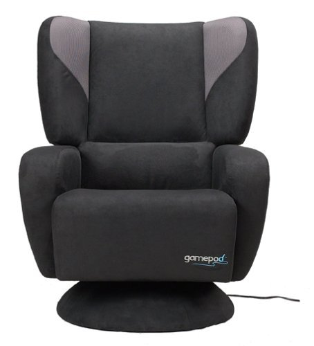 Loftgoods Microfiber Gamepod Chair, Black