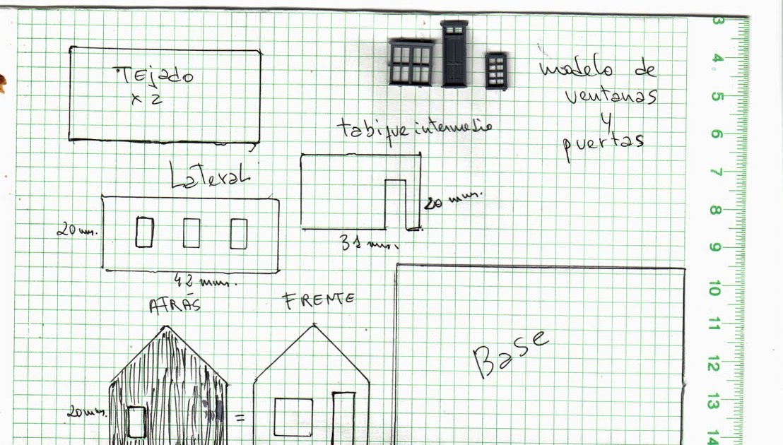 Construir tu casa en miniatura ah van los planos de las - Casas miniaturas para construir ...