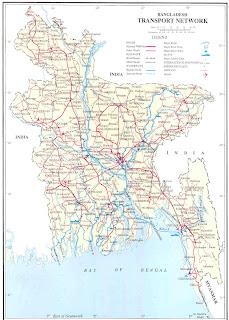 Dhaka maps of dhaka city and bangladesh transport system l bangladesh transport network map r bangladesh rivers gumiabroncs Image collections