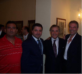 Francesco De Rosa, Sebastiano Della Gatta e Luigi Aquilante con il Sen. Carlo Sarro