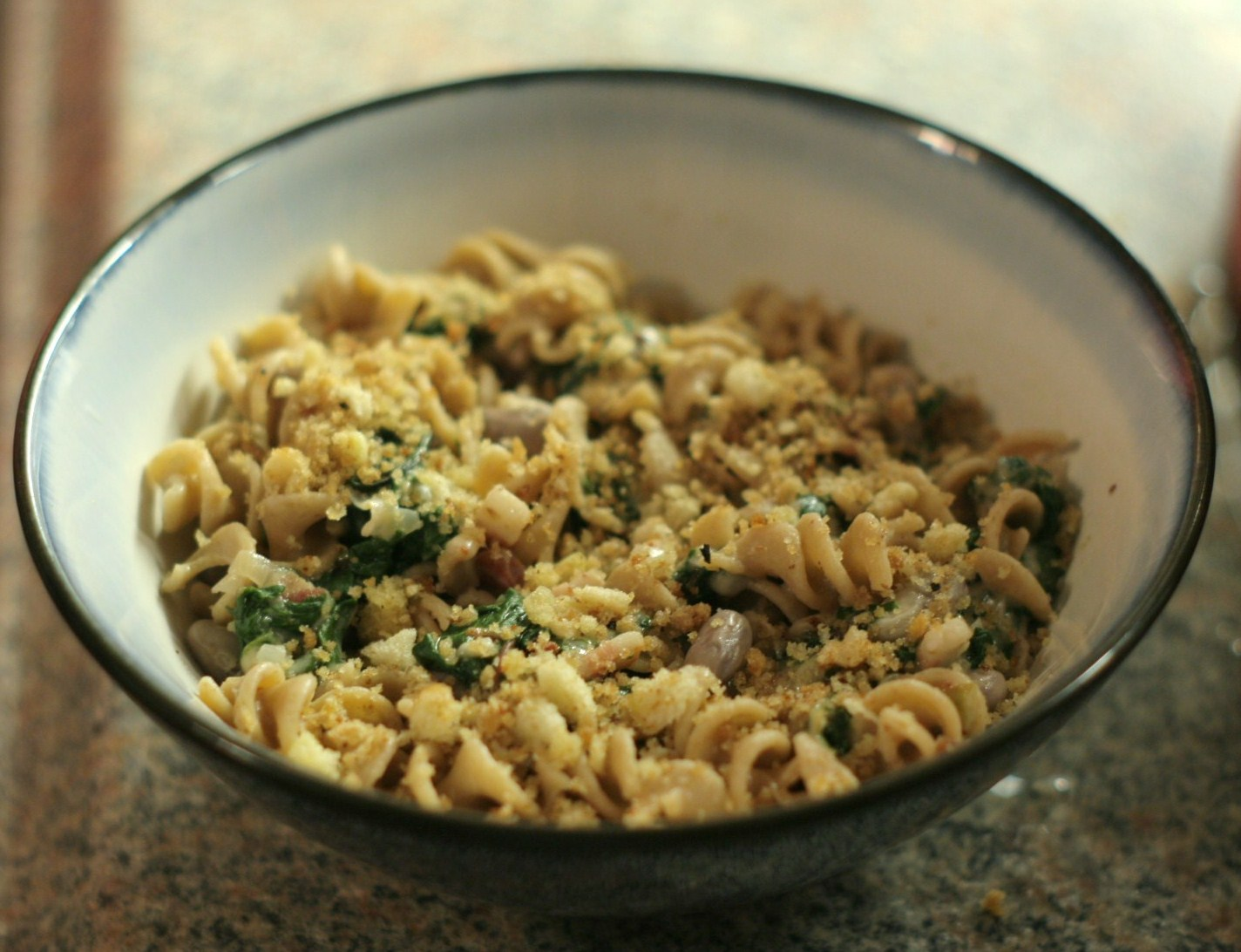 ... seasons of food: Pasta with greens, beans, and garlic bread crumbs