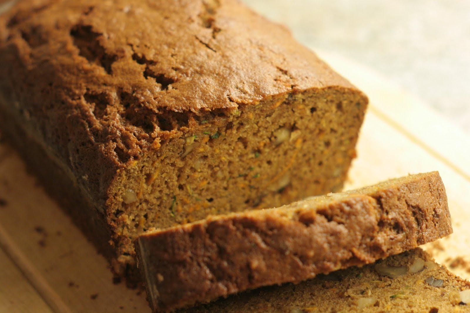 Four seasons of food: Zucchini sweet potato bread
