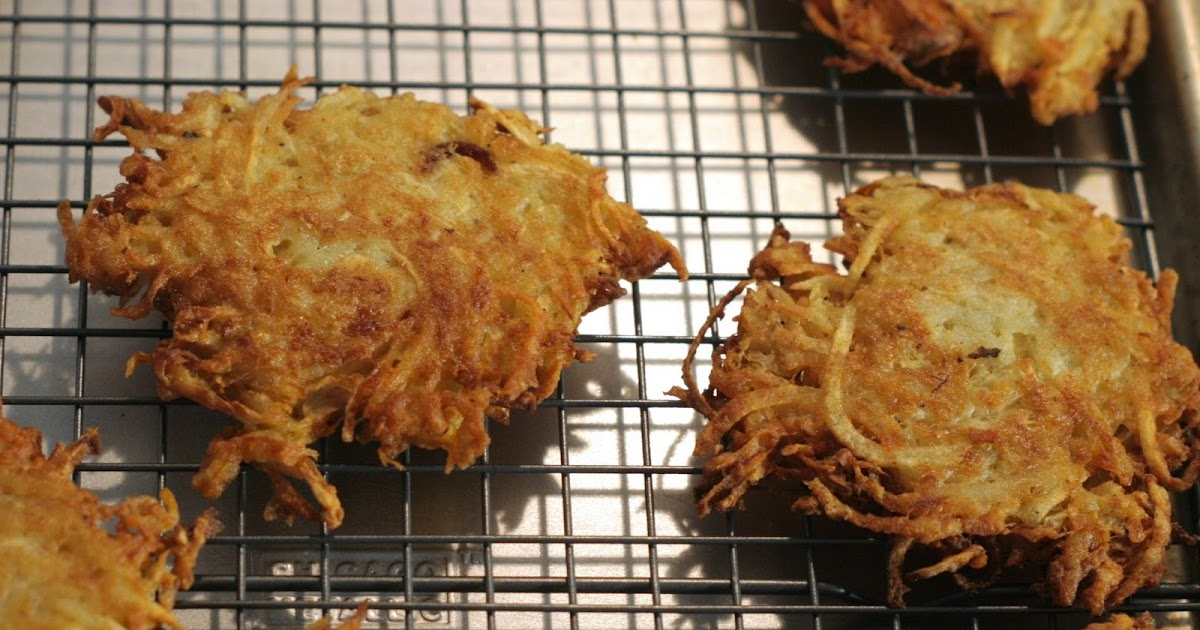 Four seasons of food: Celery root and potato latkes