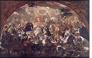 'La Iglesia militante y la Iglesia triunfante', obra de Antonio Palomino (Museo de Bellas Artes de Valencia)