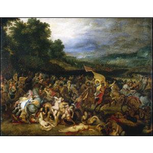 'La batalla de las Amazonas' (1598), cuadro de Rubens (1577-1640)