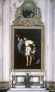 'El Ángel de la Guarda', lienzo de Joaquín Manuel Fernández Cruzado fechado en 1838 (Catedral de Cádiz)