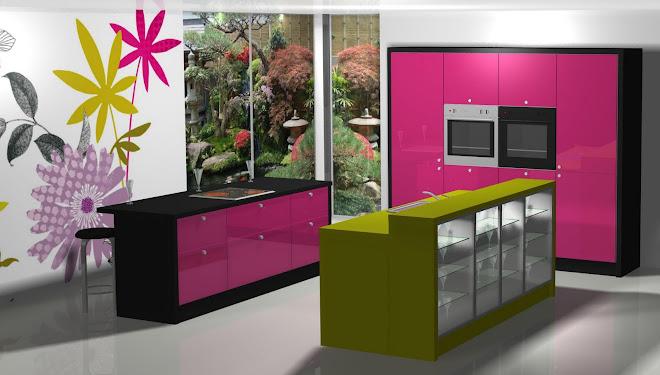 Diseño de cocina con los colores de la primavera