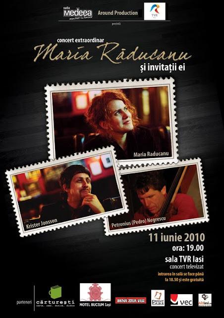 Afiş concert Maria Răducanu