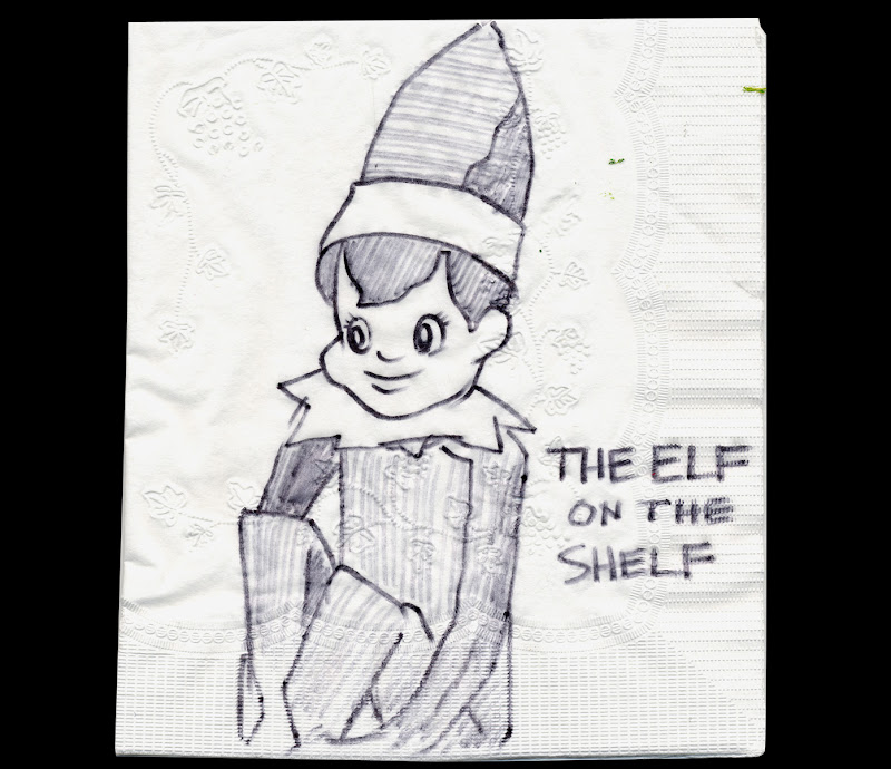 The Elf on the Shelf is from Angela's childhood. He comes out with the  title=