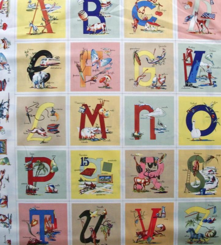 Alfabeto Italiano Fabric Its Called Alfabeto Italiano