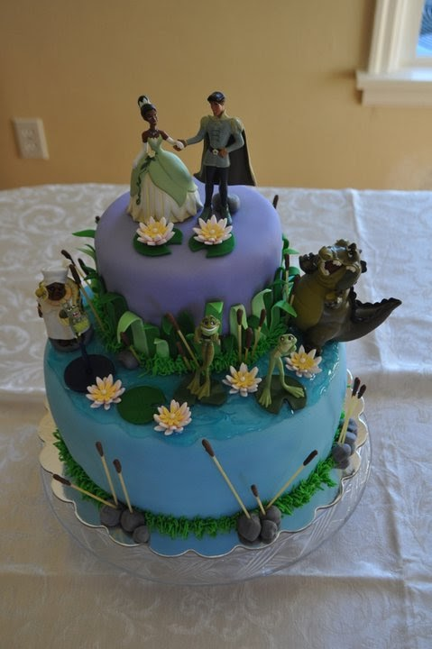 princess mononoke kodama bobblehead. Princess and the Frog cake (by