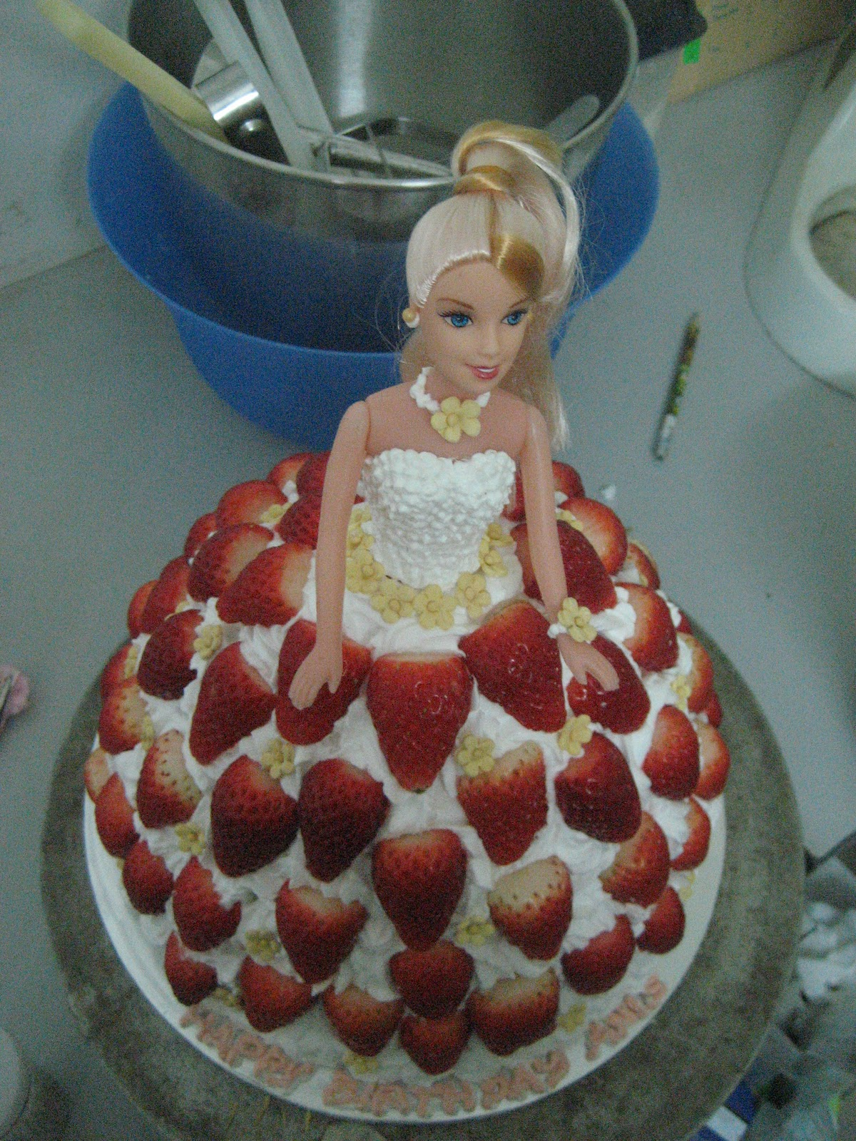 Doll Cake Images With Name : Shugarholic: barbie doll cake & Cheesecake with fresh ...