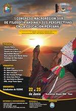 I CONGRESO DE LA MACRO-REGIÓN SUR DE FILOSOFÍA ANDINA - PUNO
