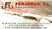 """FERJORAN, S.L  -Yesos proyectados y manuales-  AUSPICIA """"EL OJO Vale N tinO"""""""
