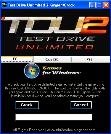 Keygen Test Drive Unlimited.