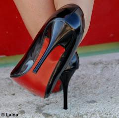 Zapatos negros-rojos