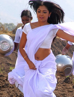Kamalini in white saree spicy photos