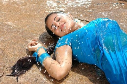 Sindhu Menon in Wet Saree - Hot Photos