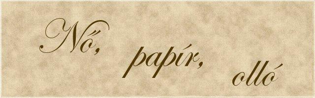 Nő, papír, olló