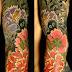 Japanese TATTOO Horimitsu style 牡丹散らしscatter peonies