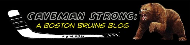 Caveman Strong:  A Boston Bruins Blog