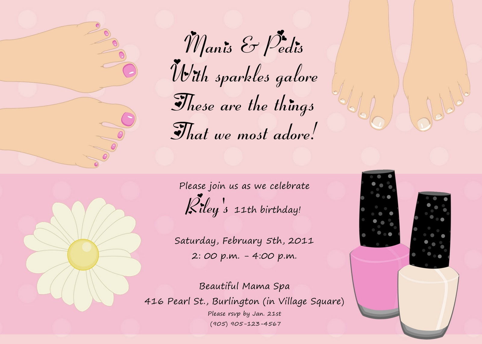 Spa Birthday Party Invitation Template Images - Template Design Ideas
