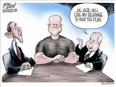 Bary Varvel Cartoon:  Joe the Plumber responds