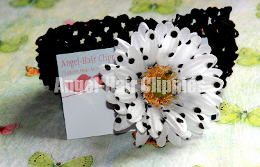 White Daisy Dots w/headband