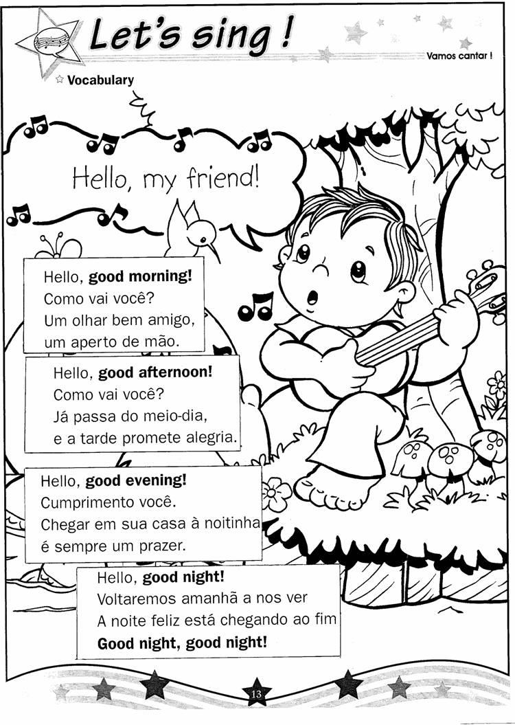 Super CDI - CENTRO DE DESENVOLVIMENTO 1ª INFANCIA: Atividades Inglês  VO34