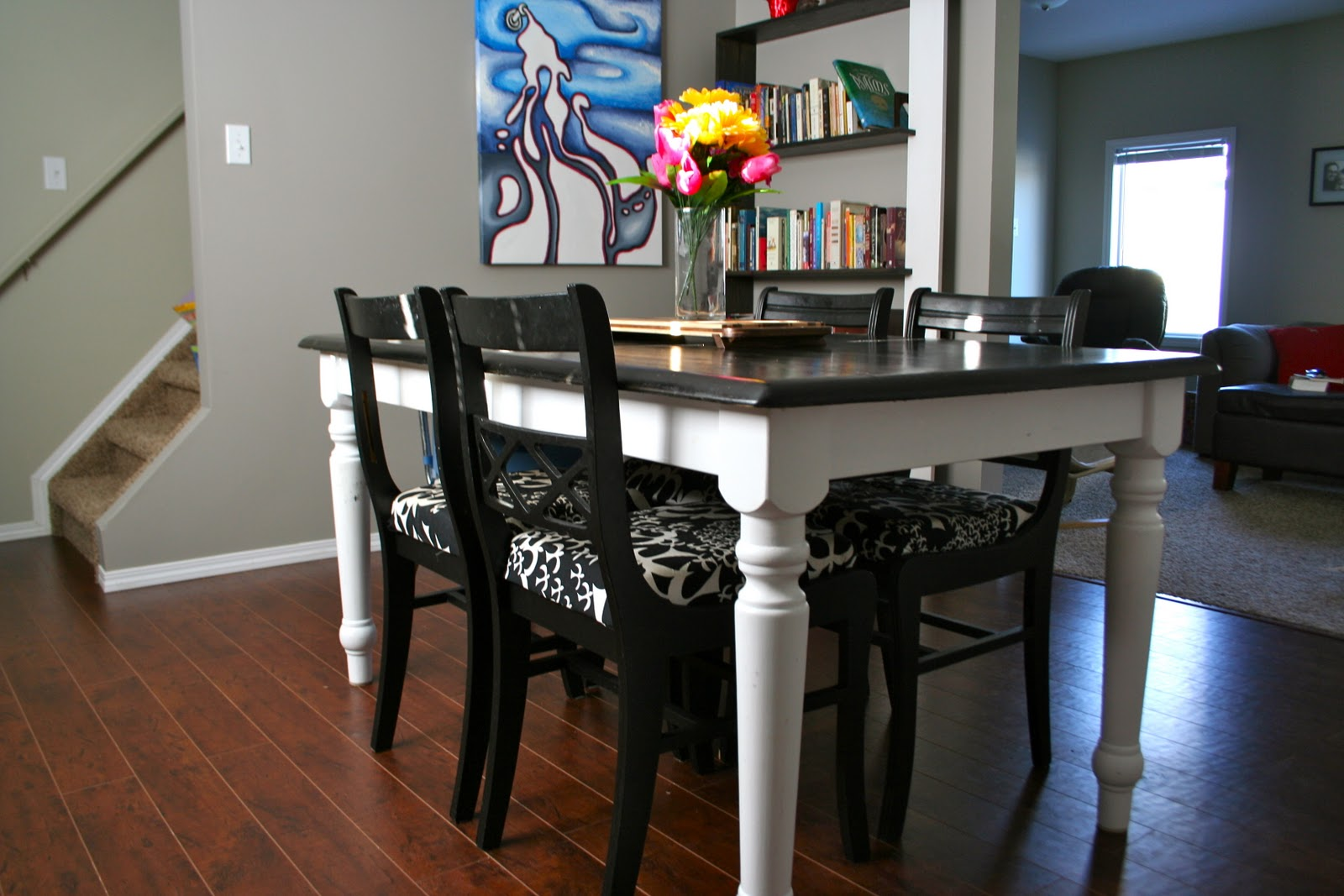 Journey 39 s of an artist mom refinishing a dining room table - Refinish contemporary dining room tables ...