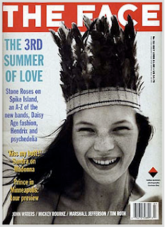 Kate Moss,portada de la revista The Face con tan sólo 14 años(1990)