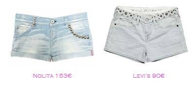 Shorts y bermudas: Nolita 153€ - Levi's 90€