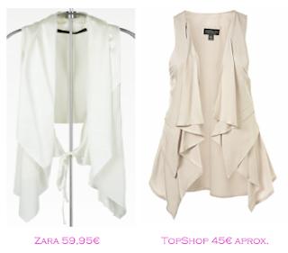 Chalecos: Zara 59,95€ - TopShop 45€
