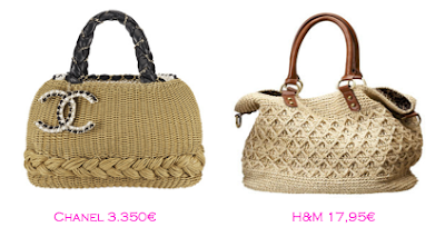 Capazos trendy: Chanel 3.350€ - H&M 17,95€